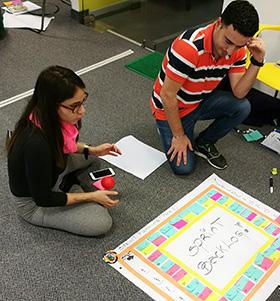 participantes en acción